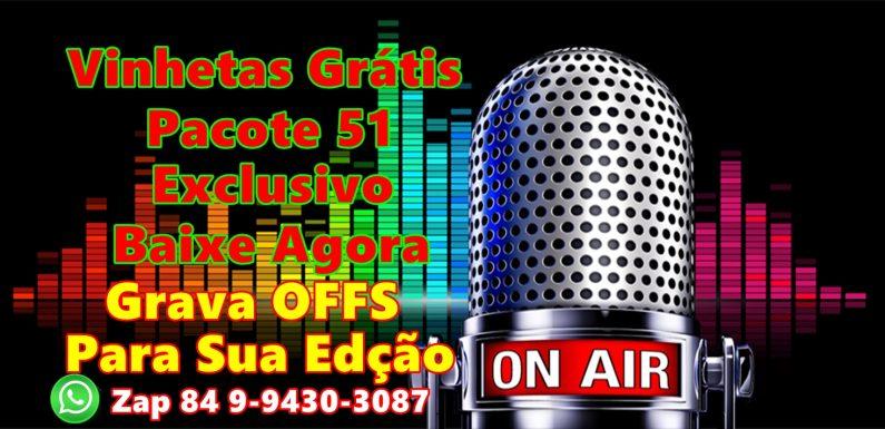 Vinhetas Gratis Para Rádio, Web Rádio, Pacote Com 51 Vinhetas